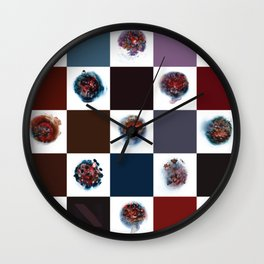 Rose City Monster's Nipple Quilt Wall Clock
