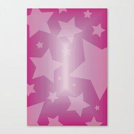 Pink Stars Canvas Print
