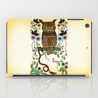 lindsay lohan iPad Cases featuring Vibrant Jungle Owl and Snake by famenxt