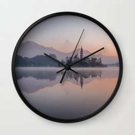 Castle Lake Wall Clock