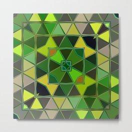 yellow green square Metal Print