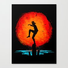 Minimalist Karate Kid Tribute Painting Canvas Print