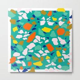 Terazzo Pattern in Pool Metal Print