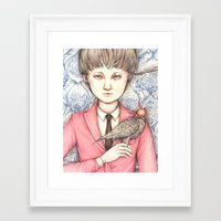 falcon Framed Art Prints featuring Falcon by pimlada - drawings