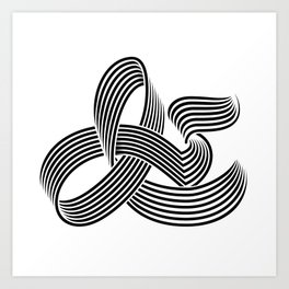 Eye bending Ampersand. Art Print