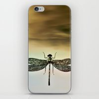 dragonfly iPhone & iPod Skins featuring DRAGONFLY  by Pia Schneider