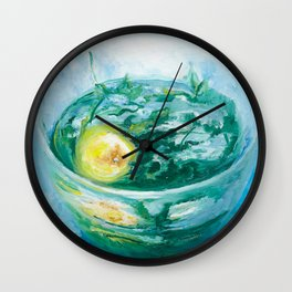 Sun In a Cup Wall Clock
