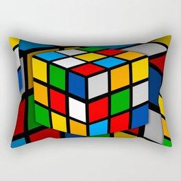 Multicolored Rubik Cube Rectangular Pillow