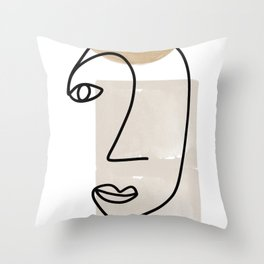 Line Art, She I Throw Pillow