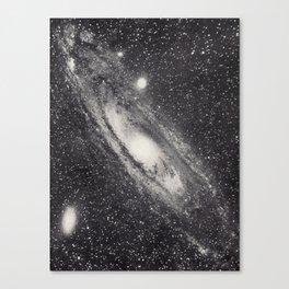 Vintage Astronomy-Nebula M31 Andromeda Canvas Print