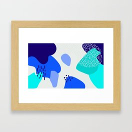 Blue abstract pattern Framed Art Print