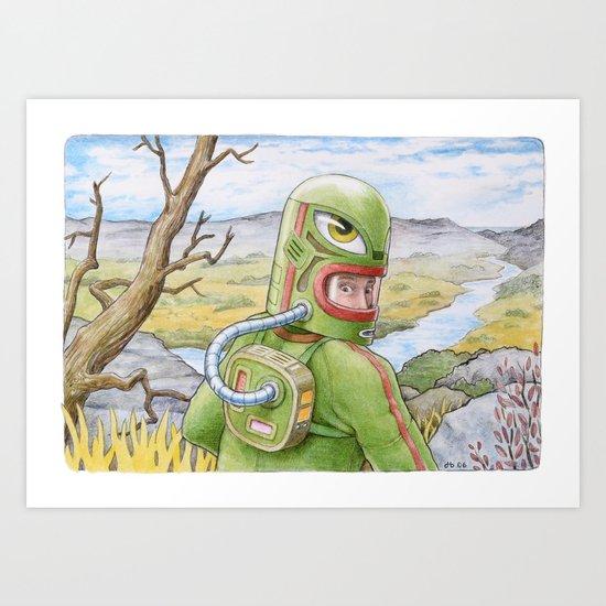 The Fissure Art Print