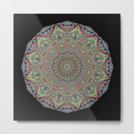 Mexican Difference Mandala Metal Print