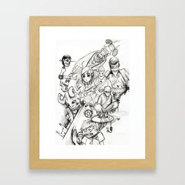 mishmash Framed Art Print