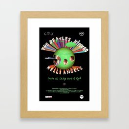 Hippies and Hells Angels Framed Art Print