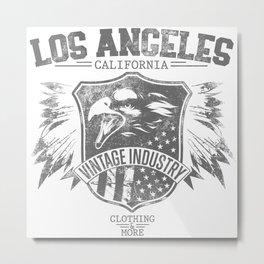 Los Angeles california clothing and more grey Metal Print