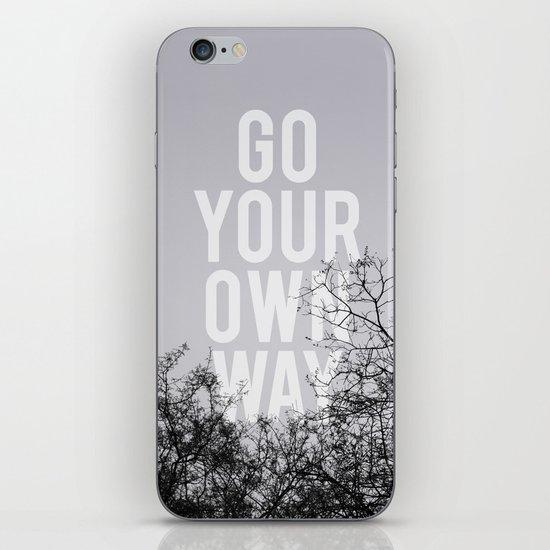 Go Your Own Way II iPhone & iPod Skin
