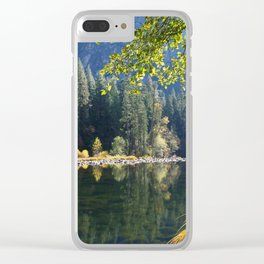Merced River Reflections Clear iPhone Case