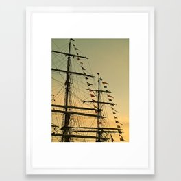 Ship flags at the Tall Ships Race Waterford 2011 Framed Art Print