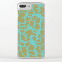 Migration Turqoise on Olive Clear iPhone Case