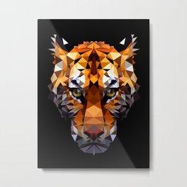 Pritty Tiger VIX Metal Print