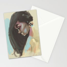 painty girl Stationery Cards