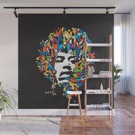 Hendrix Rock in Colors Wall Mural