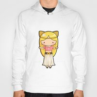 boho Hoodies featuring Boho Kitty by Joanna Zhou