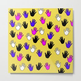 Helping Hands Metal Print