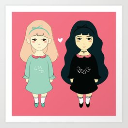 Me & You Art Print
