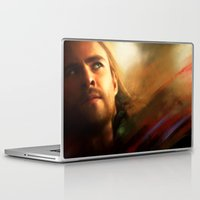 thor Laptop & iPad Skins featuring Thor by Kate Dunn