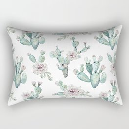 Cactus Pretty Pink + Green Rectangular Pillow