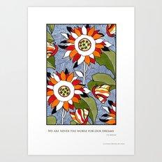 Lazy Daisy Daize Art Print