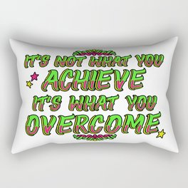 Achieve & Overcome Rectangular Pillow