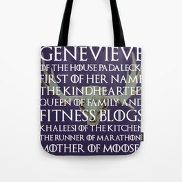 Genevieve of House Padalecki Tote Bag