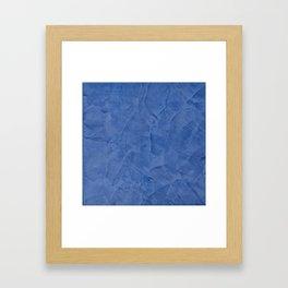 Tuscan Blue Plaster Framed Art Print