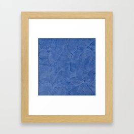 Tuscan Blue Plaster | Corbin Henry | Faux Finishes Framed Art Print