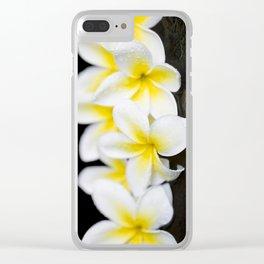 Plumeria obtusa Singapore White Clear iPhone Case