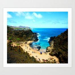 Halona Beach Cove ... By LadyShalene Art Print
