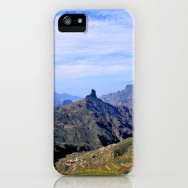 Roque Nublo, Gran Canaria and Tenerife at the Back iPhone Case