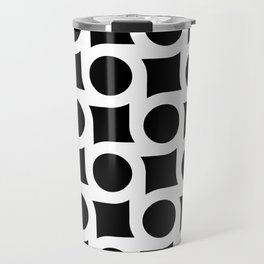 TIMELESS ORA. BLACK AND WHITE GEOMETRIC ELEMENTS Travel Mug
