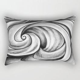 Swirl (Gray) Rectangular Pillow