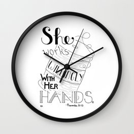 Sew Willingly, Sewing Quote Wall Clock