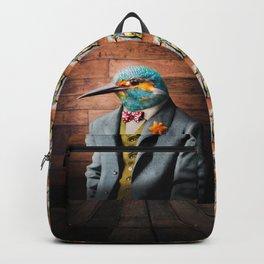 Portrait of Sir Kellen Kingfisher Backpack