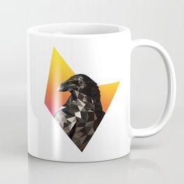 Low Poly Raven Coffee Mug