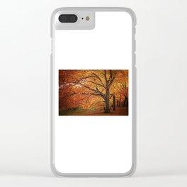 Oak Trees Clear iPhone Case