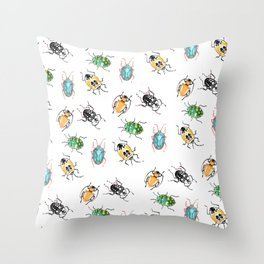 Slimey yet Satisfying Throw Pillow