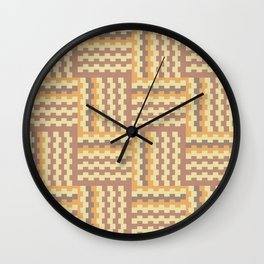Geometric crisscross pattern Wall Clock