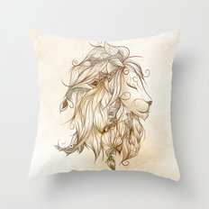 Poetic Lion Throw Pillow