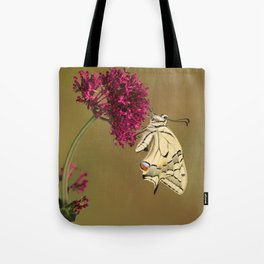 Swallowtail On Red Valerian Tote Bag